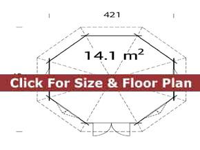 Trentan Windsor Octagonal Log Cabin Floor Plan