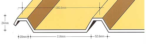 Capital Steel AS24/1000R Roof Sheet Cladding Profile