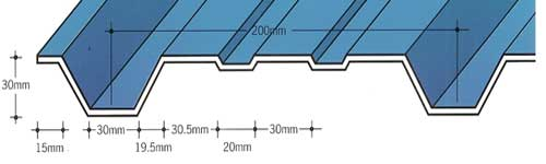 Capital Steel AS30/1000W Wall Sheet Cladding Profile