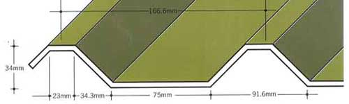 Capital Steel AS34/1000-05R Roof Sheet Cladding Profile