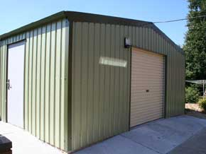 CSB Steel Garage Building - 1st Choice Leisure Buildings