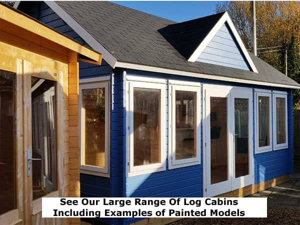 Wooden Sectional Log Buildings Display Site - 1st Choice Leisure Buildings
