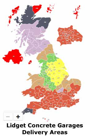 Click For Interactive Delivery Map For Lidget Garages