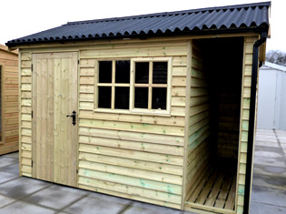 Traditional Timber Shed From 1st Choice Leisure Buildings