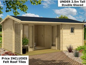 Trentan Dunsfold Multi Room Garden Cabins - 1st Choice Leisure Buildings