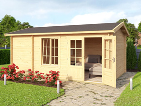 Trentan Windlesham Two Room Log Cabin Combination - 1st Choice Leisure Buildings