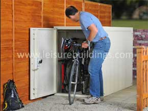 SafeStore Gold 'Teesdale' 6' x 3' Metal Twin Bike Storage Unit - 1st Choice Leisure Buildings