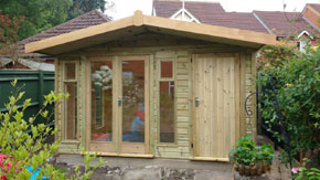 Summerhouse With Side Shed - 1st Choice Leisure Buildings