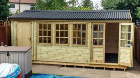 Summer House Shed Combo - 1st Choice Leisure Buildings