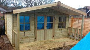 Summerhouse With Shed Attached - 1st Choice Leisure Buildings