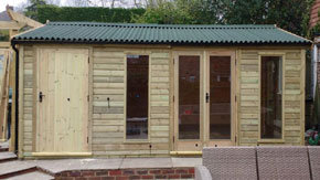 Contemporary Summerhouse With Side Shed - 1st Choice Leisure Buildings
