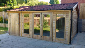 Modern Summer House With Shed - 1st Choice Leisure Buildings