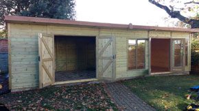 Shed Summerhouse Combination - 1st Choice Leisure Buildings