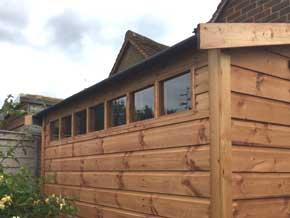 Diamond Barnham Pent Wooden Workshop - 1st Choice Leisure Buildings