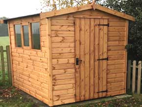 Platinum Fareham Apex Wooden Garden Workshop - 1st Choice Leisure Buildings