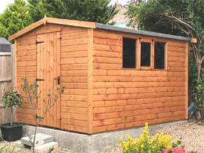 Platinum Fareham Pent Wooden Garden Workshop - 1st Choice Leisure Buildings