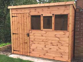 Classic Pent DPC Shed - 1st Choice Leisure Buildings