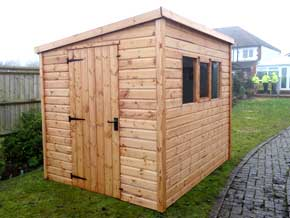 Classic Pent DPD Shed - 1st Choice Leisure Buildings