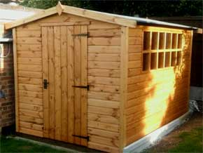 Platinum Southampton Pent Wooden Garden Workshops - 1st Choice Leisure Buildings