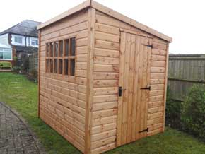 Georgian Pent DPA Shed - 1st Choice Leisure Buildings