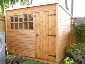Georgian Pent DPB Shed - 1st Choice Leisure Buildings
