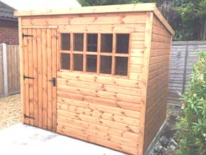 Georgian Pent DPC Shed - 1st Choice Leisure Buildings