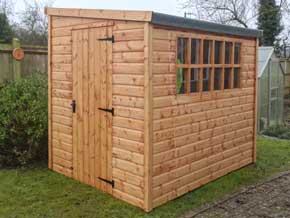 Georgian Pent DPF Shed - 1st Choice Leisure Buildings