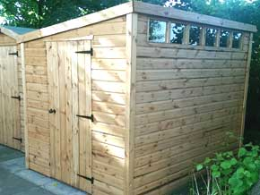 Pent Shed With Security Windows - 1st Choice Leisure Buildings