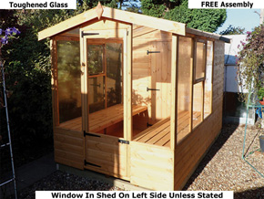 Diamond Graffham Potting shed Greenhouses - 1st Choice Leisure Buildings