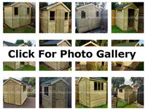 Platinum and Diamond Garden Sheds Photos and Images - 1st Choice Leisure Buildings