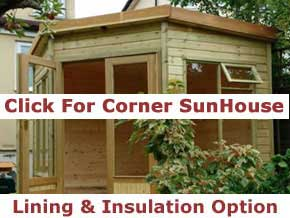 6x6, 7x7, 8x8, 9x9 and 10x10 Corner Summer Houses - 1st Choice Leisure Buildings