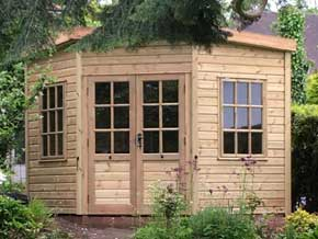 Corner Outdoor Summerhouse - 1st Choice Leisure Buildings