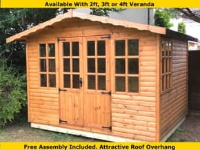 Diamond Bolney Georgian Timber Summerhouse - 1st Choice Leisure Buildings