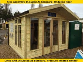 Platinum Fleet 14ft x 8ft Summer Office - 1st Choice Leisure Buildings