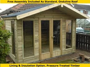 Platinum Highclere Wooden Summer House - 1st Choice Leisure Buildings