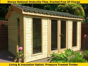 Platinum Kingsclere 9ft x 8ft Summer Building - 1st Choice Leisure Buildings