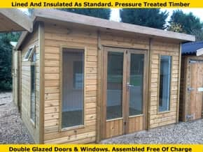 Platinum Odiham Pent Summer House - 1st Choice Leisure Buildings