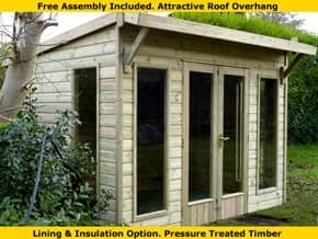 Platinum Owlesbury Modern Pent Summer House - 1st Choice Leisure Buildings