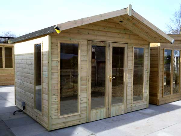Timber 10ft x 8ft Summer House - 1st Choice Leisure Buildings