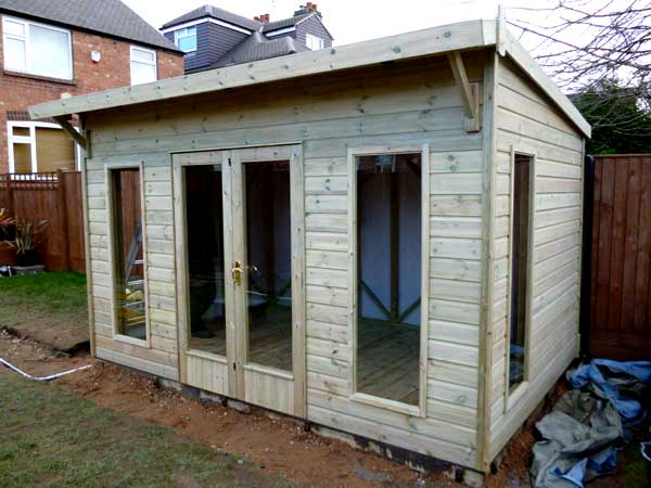 Timber 14ft x 10ft Summer House - 1st Choice Leisure Buildings
