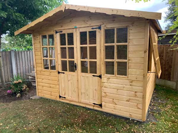 Wooden 9x8 Summerhouse - 1st Choice Leisure Buildings