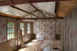 Lining and insulating a home office