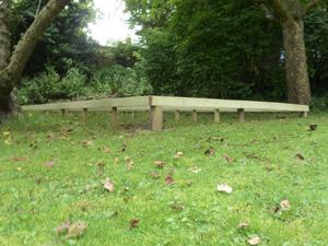 Timber subframe base for garden workshop