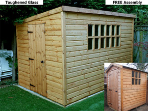 Diamond 'Georgian' Apex or Pent Storage Shed