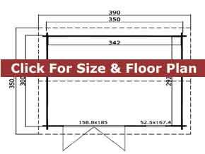 Trentan Chertsey Garden Cabin Floor Plan