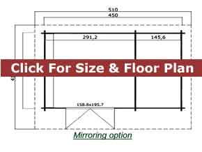 Trentan Chessington Log Cabin Floor Plan