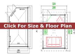 Trentan Esher Corner Log Cabin Floor Plan