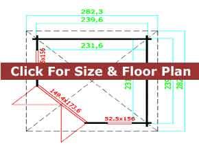 Trentan Ottershaw Corner Log Cabin Floor Plan