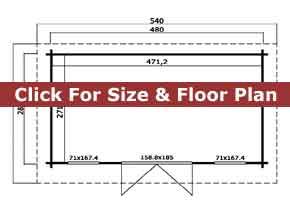 Trentan Oxshott Garden Cabin Floor Plan
