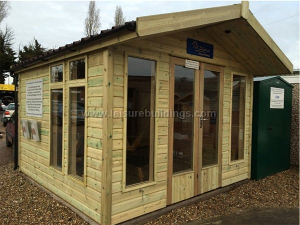 Garden Office - Platinum Fleet Contemporary Apex Summer House - 1st Choice Leisure Buildings